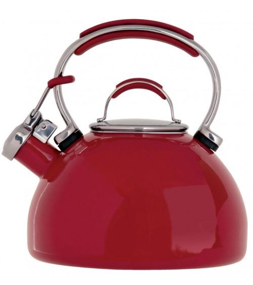 Prestige 50558 2 Litre Red Porcelain Enamel Whistling Kettle
