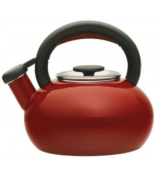 Prestige 46245 Red Vintage Retro Enamel Stove Top Whistling 1.4L Kettle