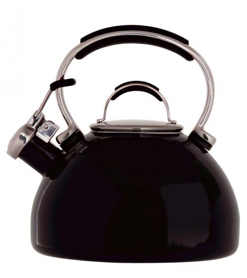 Prestige 51450 2 Litre Black Porcelain Enamel Whistling Kettle