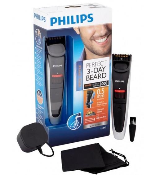 Philips QT4013/23 Beardtrimmer Series 3000 Beard Trimmer Titanium Blade Cordless