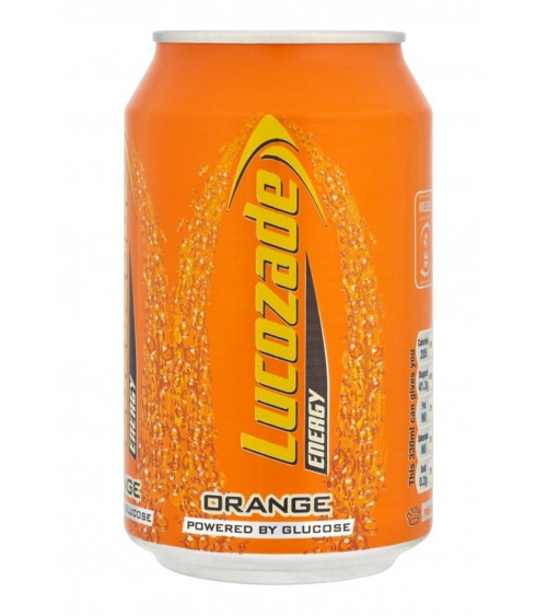Lucozade Orange Energy 24 Pack 330ml Cans