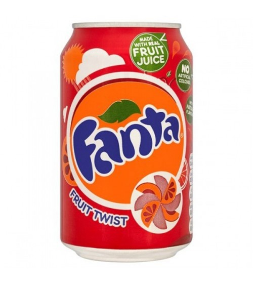 Fanta Fruit Twist 24 Pack 330ml Cans