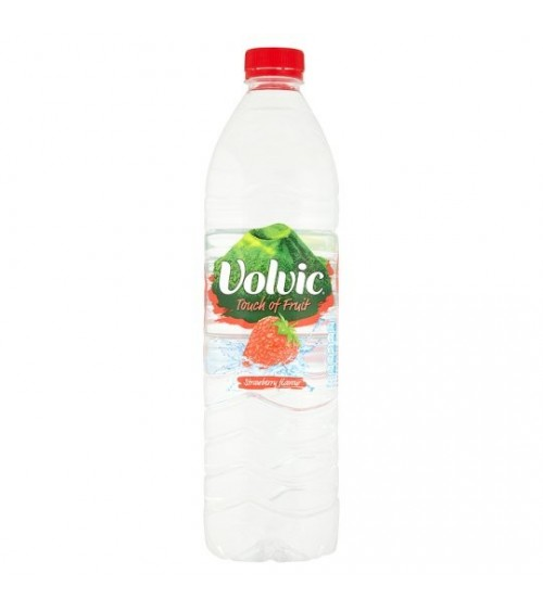 VOLVIC TOUCH OF FRUIT STRAWBERRY 6X1.5LITRE BOTTLES
