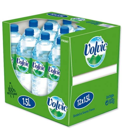 Volvic Natural Mineral Water 12x1.5 Litre Bottles