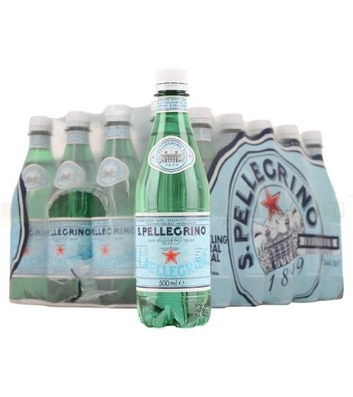 San Pellegrino Sparkling Mineral Water PET 50 cl (Pack of 24)