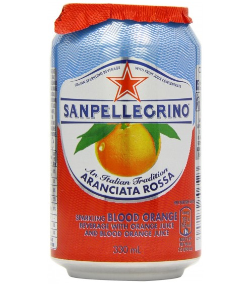San Pellegrino Aranciata Rossa Sparkling Blood Orange Juice (24 x 330ml Cans)