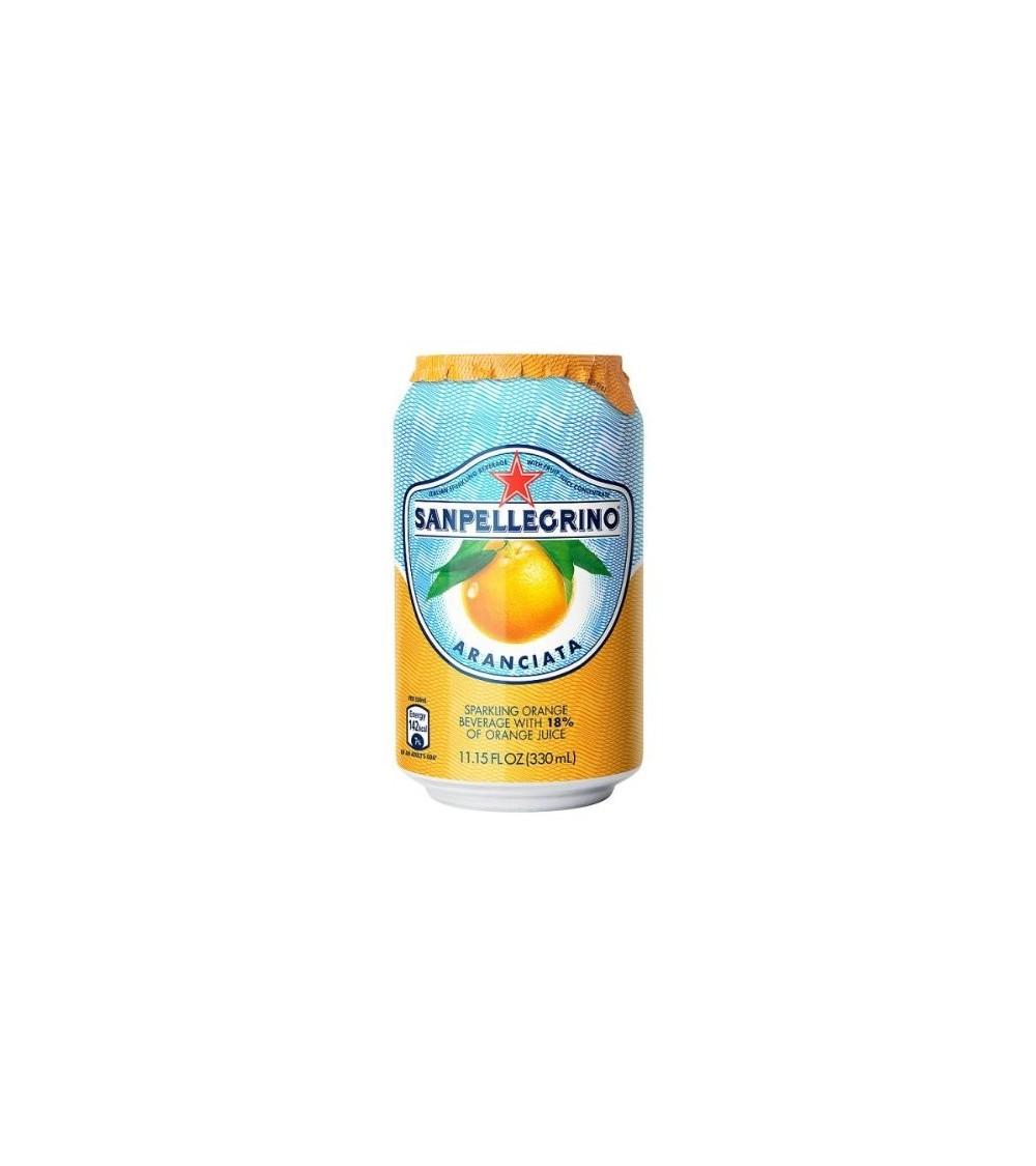 San Pellegrino Sparkling Aranciata Orange Juice (24 x 330ml Cans)