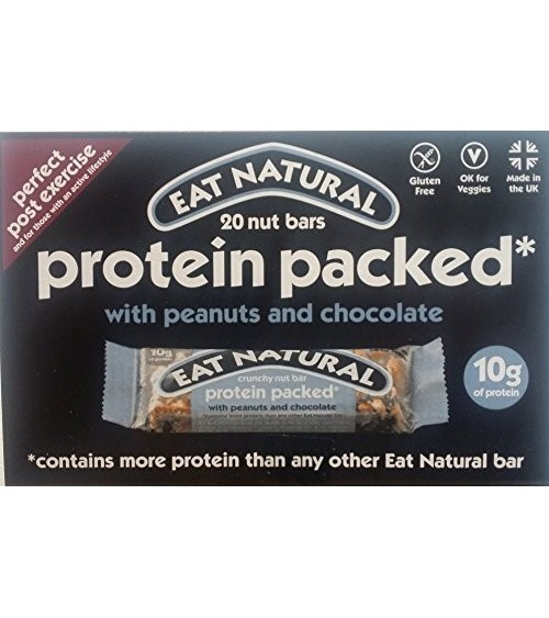 Eat Natural Protein Packed Bar 45g x 20 Large Pack New & Boxed