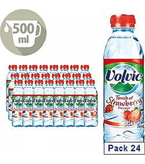 Volvic Touch of Fruit Strawberry Flavoured Water 500ML Pack of 24