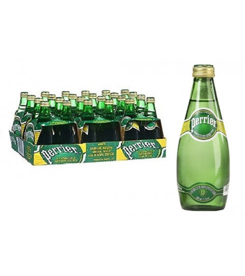 Perrier Sparkling Natural Mineral Water 330ML Pack of 24