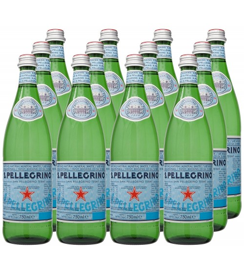 San Pellegrino Sparkling Mineral Water 750ml Glass Pack of 24