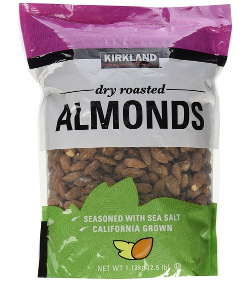 Kirkland Signature Extra High Quality Fancy Dry Roasted Almonds Net Wt 1.13Kg