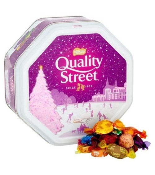 Nestle Quality Street Assorted Chocolates Large1.3Kg Tin