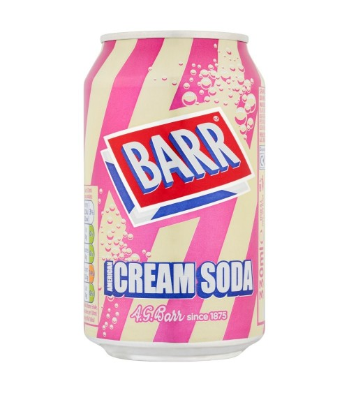 Barr American Cream Soda 330ml 24 pack Can